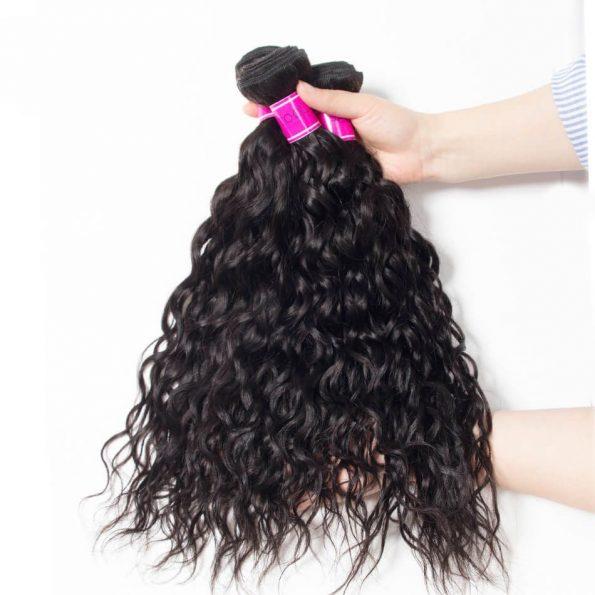 Brazialian Water Wave Hair 3 Bundles, Wet And Wavy Hair