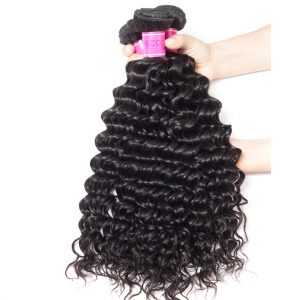 Brazilian Deep Wave Hair Bundles 100% Human Hair
