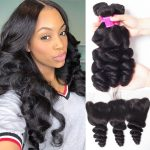 Brazilian Loose Wave Hair Bundles With Lace Frontal Sale