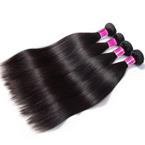 Brazilian Straight Hair 4 Bundles 100% Virgin Human Hair