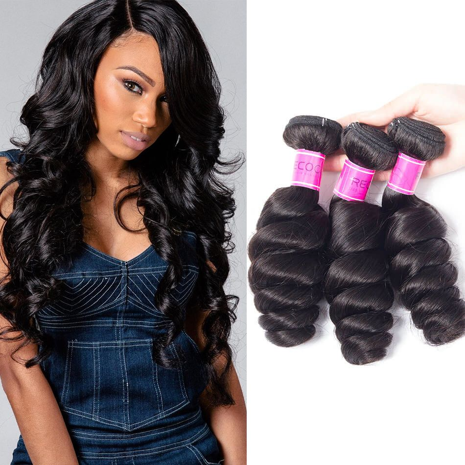 Brazilian Virgin Human Hair Loose Wave 3 Bundles Deal