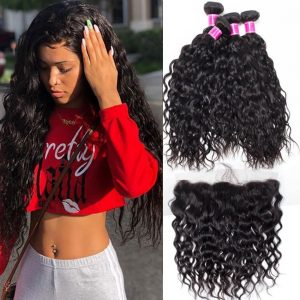 Brazilian Wet and Wavy Bundles With Frontal