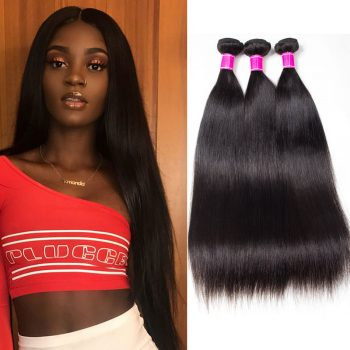 High Quality Brazilian Straight Hair 3 Bundles Mink Hair