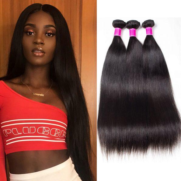 High Quality Brazilian Straight Hair 3 Bundles Mink Hair