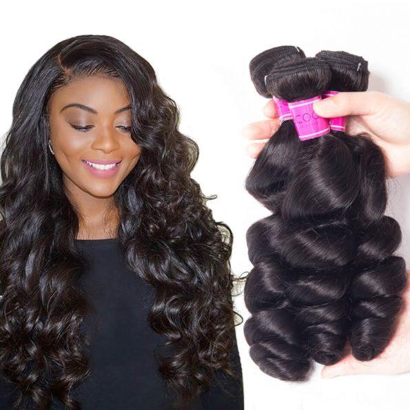 Loose Deep Brazilian Hair 4 Bundles 100% Human Hair
