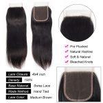 Indian Straight Virgin Hair Cheap Bundle Deals With Closure