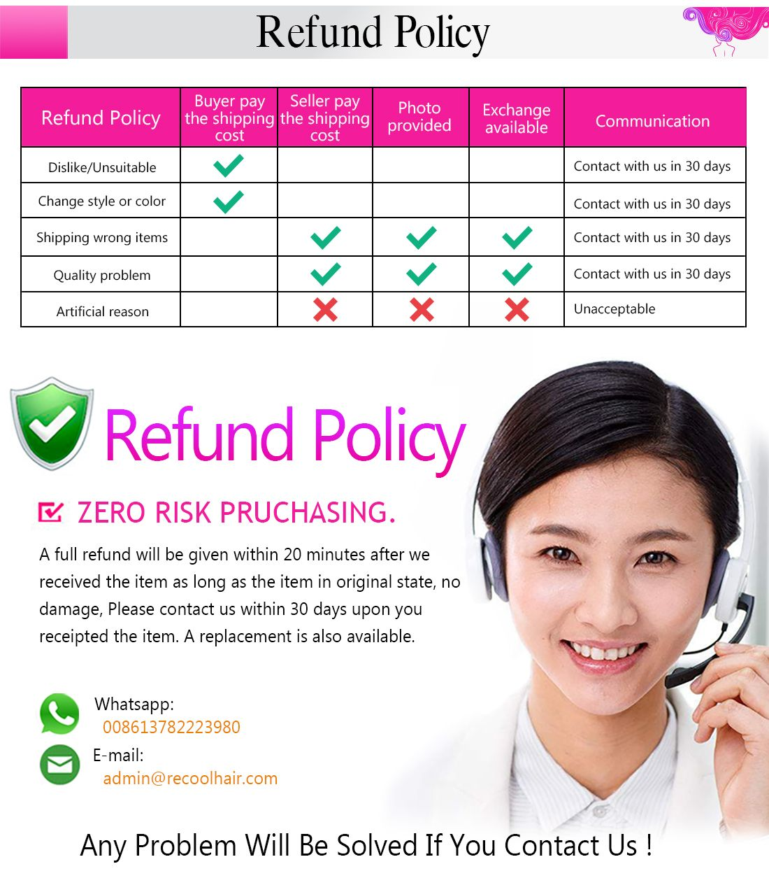 recool hair refund policy