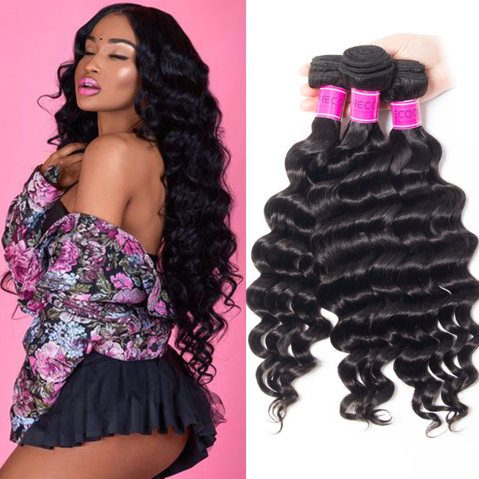 recool loose deep wave human hair bundles