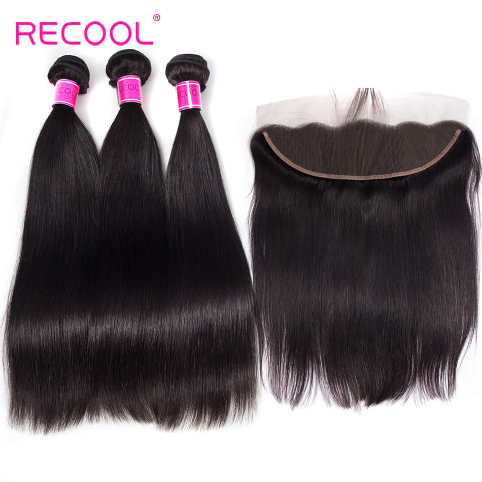 Hot Selling Human Hair Bundles Straight With Frontal Lace Closure Virgin 3 Bundles Hair Straight With Frontal
