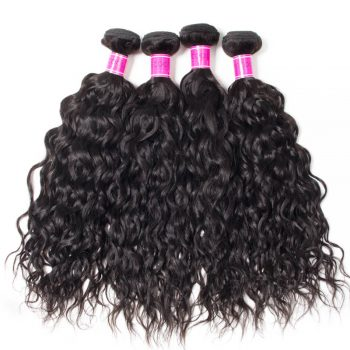 10A Indian Human Hair 4 Bundles Water Wave