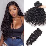 Brazilian Wet and Wavy Hair Weave Bundles With Lace Closure