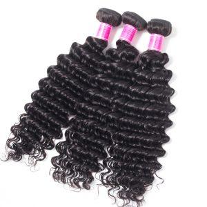 Indian Human Hair Deep Wave 4 Bundles Grade 10A