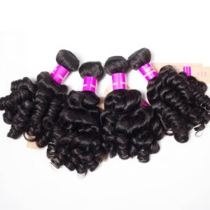 Malaysian Bouncy Hair Weave 4 Bundels Bouncy Curly Weave