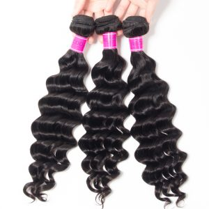 Malaysian Loose Deep Virgin Human Hair 3 Bundles