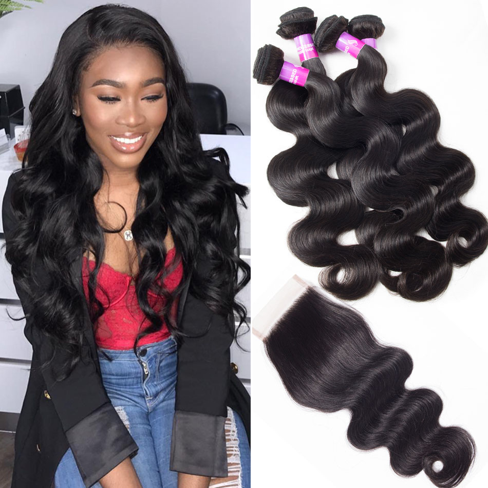 Malaysian Virgin Hair Body Wave 3 Bundles With Frontal Deal