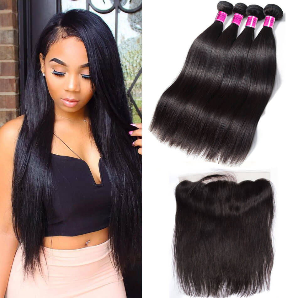 Malaysian-Virgin-Straight-Hair-4-Bundles-With-Lace-Frontal(1)