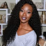 Malaysian curly wave human hair bundle with lace closure