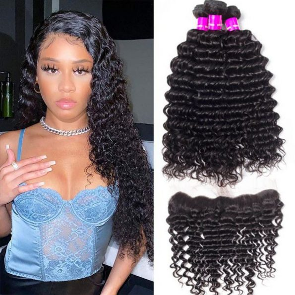 Malaysian deep curly 3 bundles with frontal