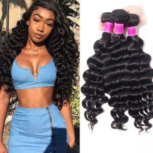 Peruvian Loose Deep Wave Bundles 100% Human Hair Extension