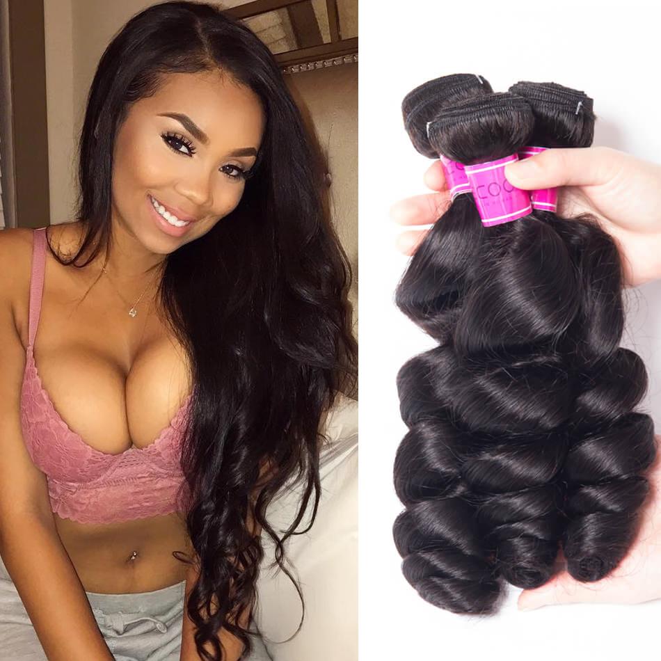 Peruvian Loose Wave Hair Bundles Sale Online
