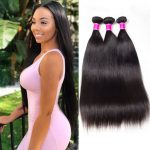 Peruvian Remy Virgin Human Hair Straight hair 3 Bundles