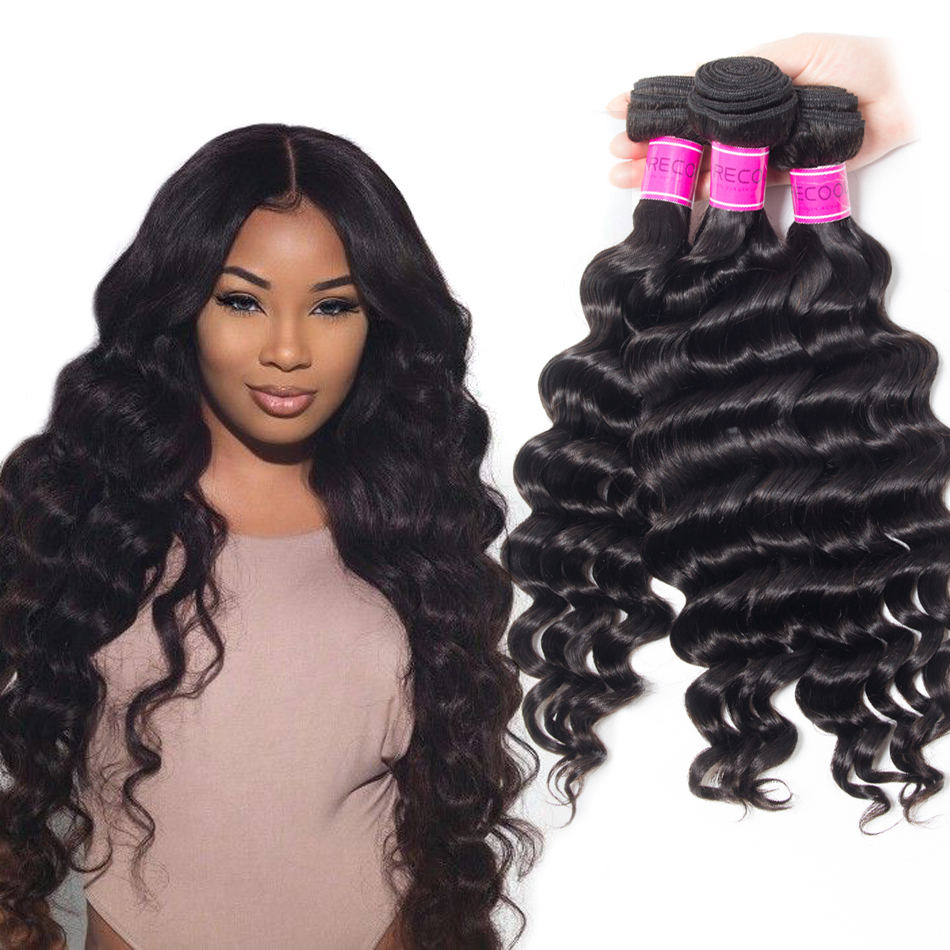 Peruvian Virgin Hair 3 Bundles With Loose Deep Wave Closure