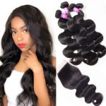 Peruvian Virgin Human Hair Body Wave 4 Bundles With Closure