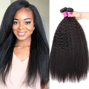 Peruvian Yaki Kinky Straight Human Hair 3 Bundles