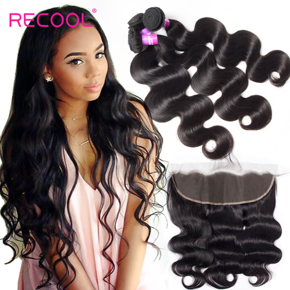 Cheap 8A Grade Malaysian Body Wave Bundles With Frontal Closure Malaysian Body Wave Hair 3 Bundles With Frontal Deal