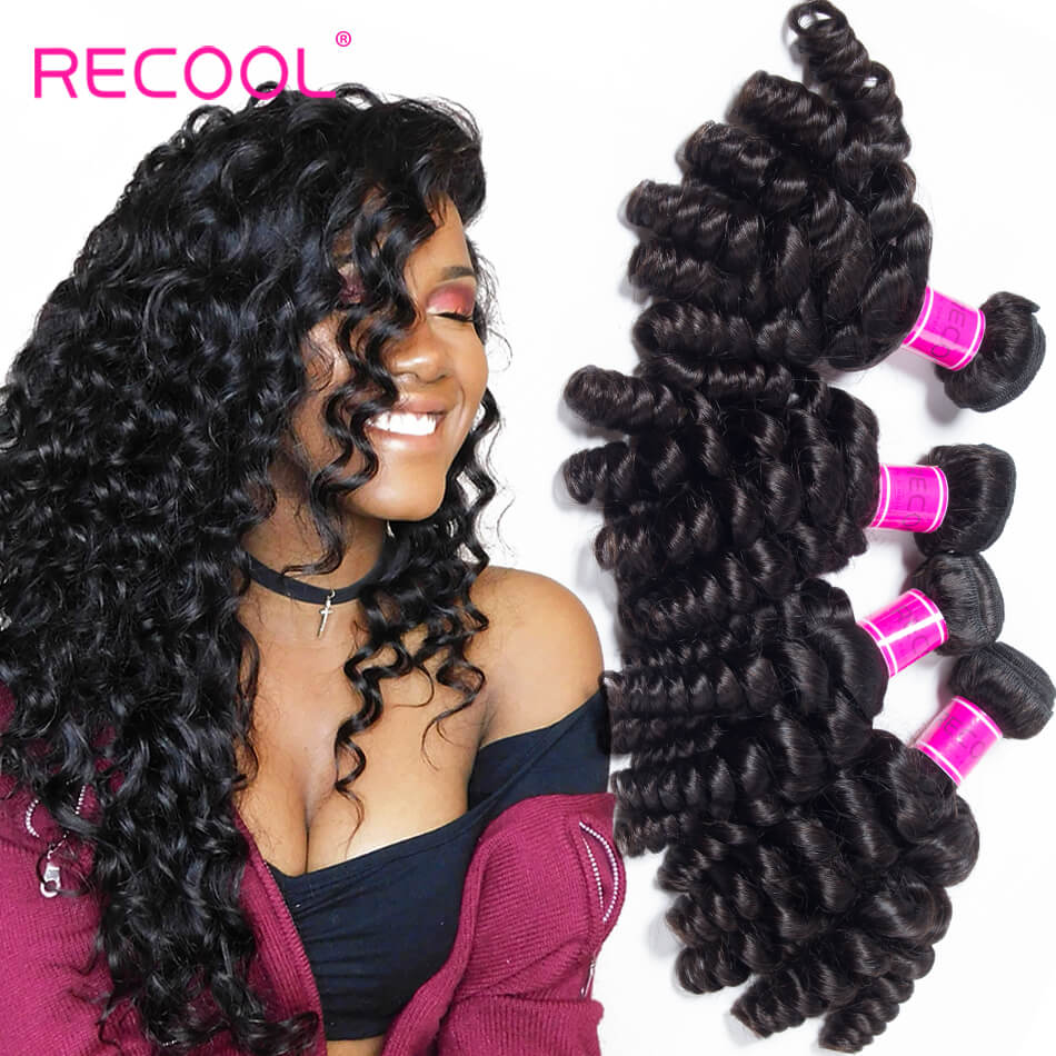 Virgin Hair Bouncy Curly Weave 4 Bundles Funmi Hair 100% Remy Human Hair Bundles