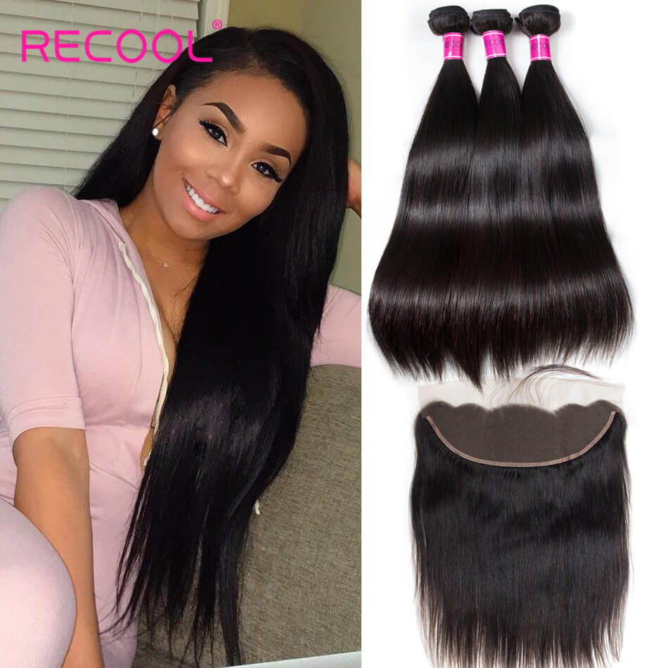 8a Grade Peruvian Straight Virgin Hair 3 Bundles With Frontal Peruvian Human Hair Bundles With Frontal Best Selling
