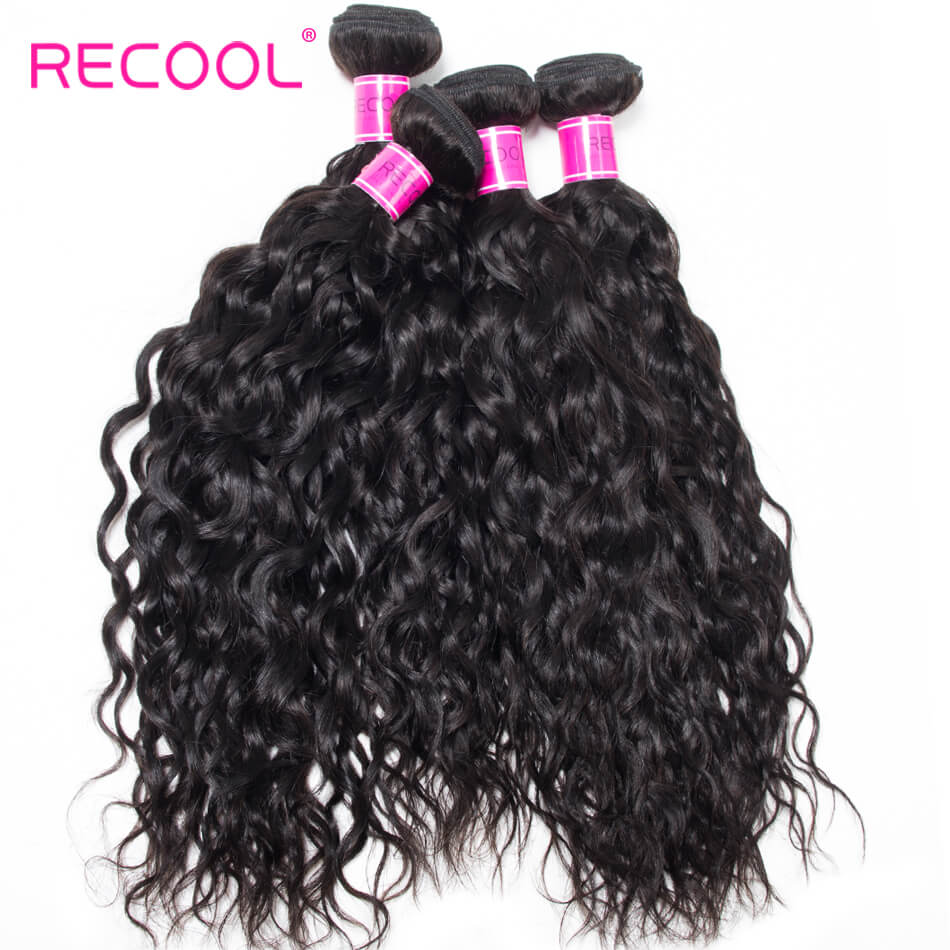 Recool Hair Water Wave Bundles Virgin Hair 10 Bundles Wholesale Wet And Wavy Human Hair Weaves