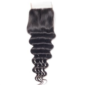 Virgin Hair Loose Deep Wave Human Hair 4x4 Lace Closure 1 PCS