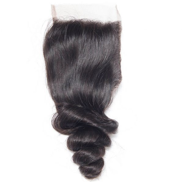 Virgin Hair Loose Wave Human Hair 4×4 Lace Closure 1 PCS