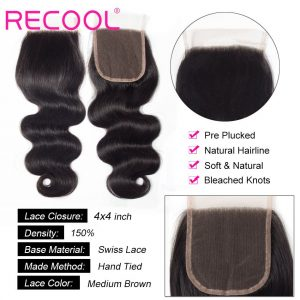 body wave Lace Closure details