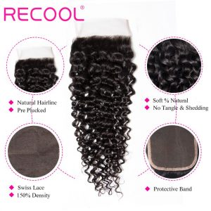 curly wave Lace Closure details