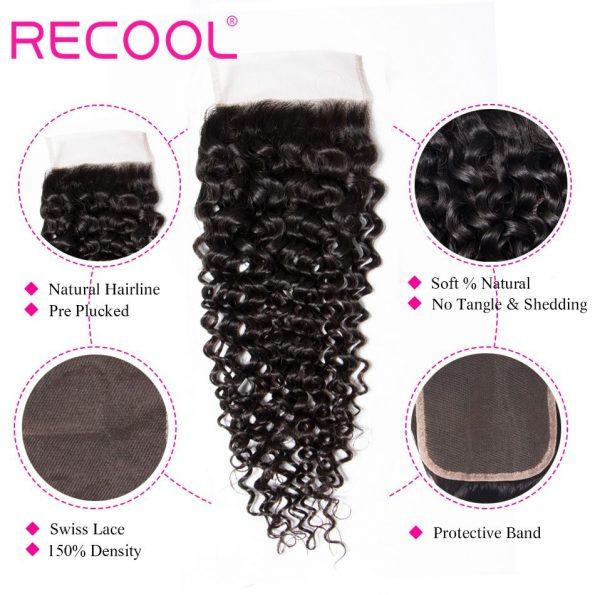 curly wave Lace Closure details