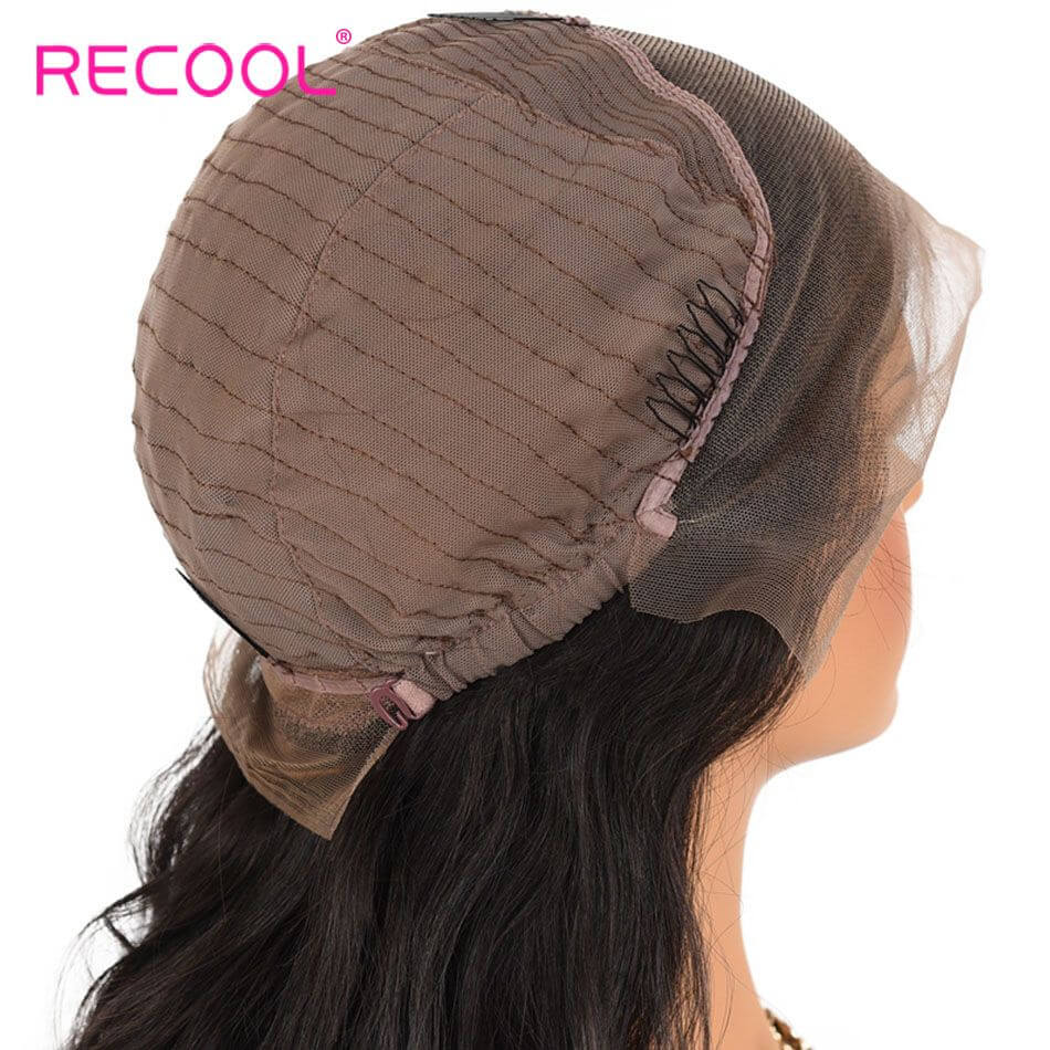 Recool Hair Short Bob Body Wave Wigs Density 180% 8A Virgin Human Hair Lace Frontal Wigs