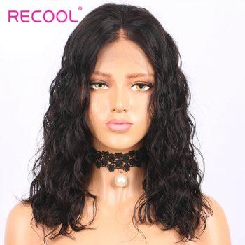 Short Bob Wavy Wigs Lace Frontal Wig 100% Virgin Human Hair Wigs Beauty Hairstyles