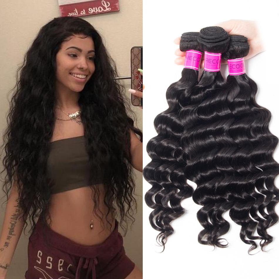 recool hair loose deep wave human hair bundles