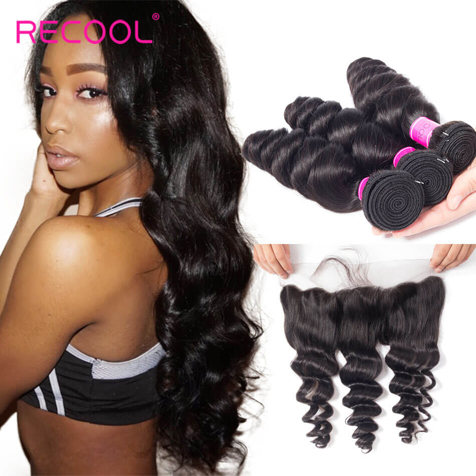recool hair loose wave 3 bundles with frontal 2