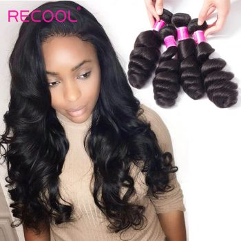 Malaysian Virgin Hair Loose Wave 4 Bundles Recool Hair Soft Human Hair Weave Bundles 8A Best Quality