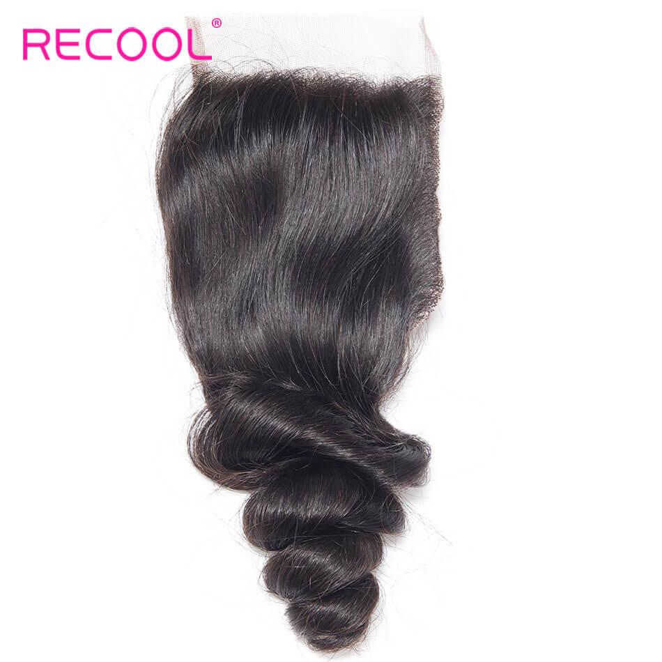 recool hair loose wave closure 12