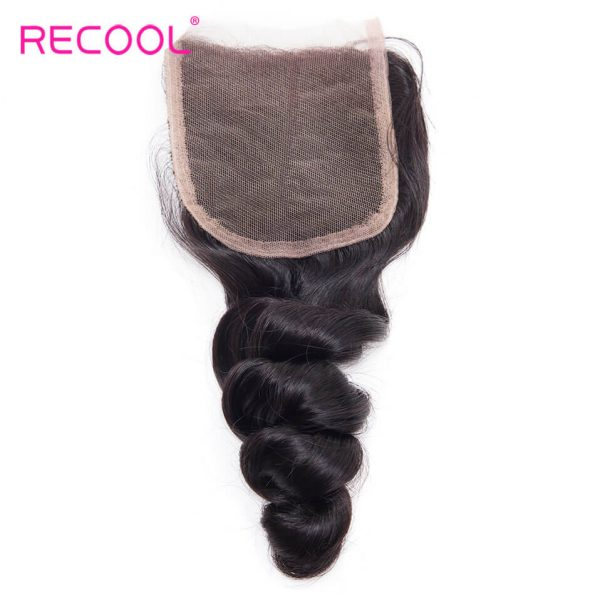 recool hair loose wave closure 3