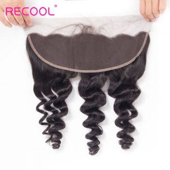 8A Brazilian Loose Wave Frontal Closure Human Hair Extension
