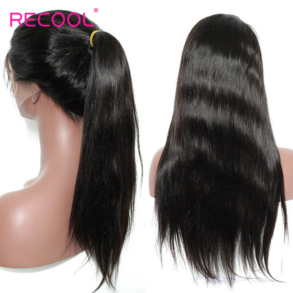 Recool Hair 180% Straight Lace Front Wigs Human Hair Straight 180% dentisy 8A Lace Human Hair with Baby Hair for Black Women straight