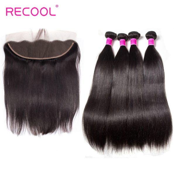 recool hair straight with frontal 4