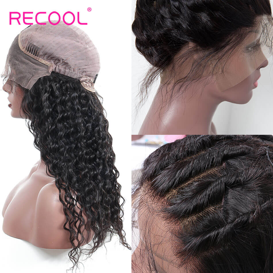 Virgin Hair Lace Frontal Wigs Deep Wave | Recool Hair
