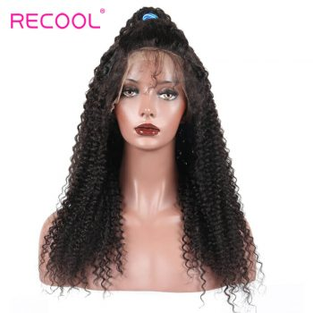 Kinky curly Lace Frontal Wig Virgin hair Kinky curly Lace Front Wigs Human Hair Wigs for Black Women with Baby Hair Kinky Curly Wigs