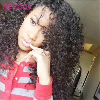 Recool Hair Raw Indian Virgin Hair Curly Weave 4 Bundles Luxury Quality Remy Human Hair Extensions